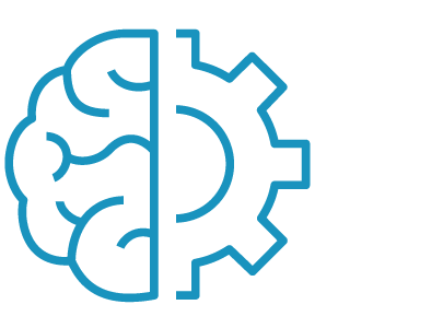brain and gear icon to the side