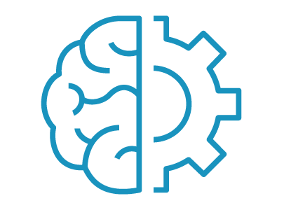 brain and gear icon centered