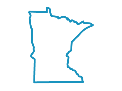 Minnesota state icon centered