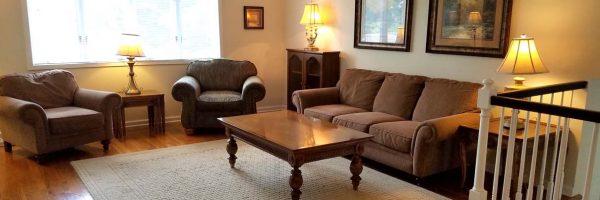 sober housing living room